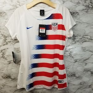 Womens Nike USA Soccer Jersey New Red Whi